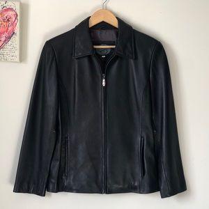 Gorgeous soft genuine leather jacket - size small